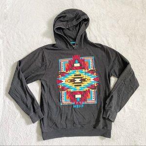 Neff grey Aztec print hoodie sweatshirt medium